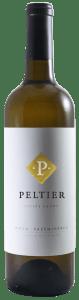 Bottle of premium white blend wine