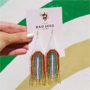 Bad Seed Designs beaded earrings