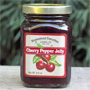 jar of cherry pepper jelly