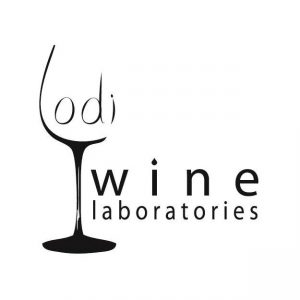 Lodi Wine Lab Logo with glass of wine
