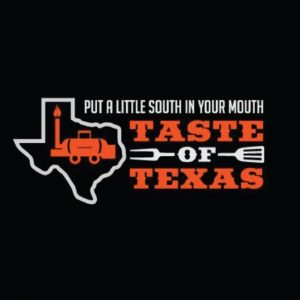 taste of texas black and orange logo