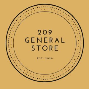 209 The General Store Logo in black with yellow background