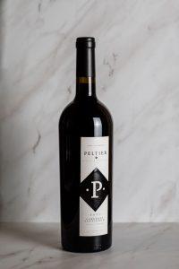 2017 Black Diamond Cabernet Sauvignon bottle on white marble background