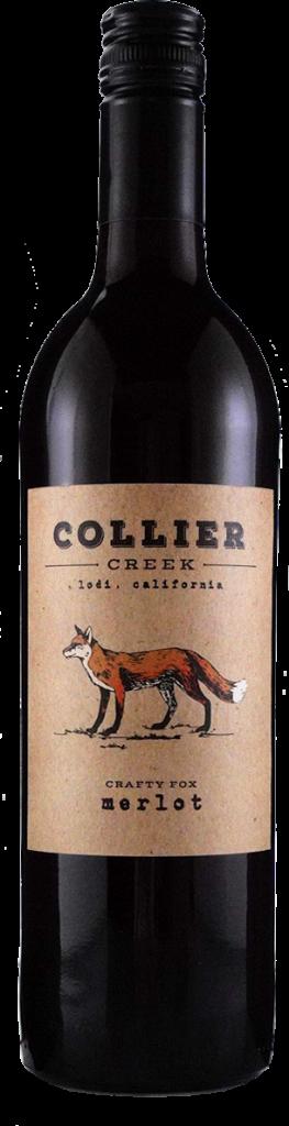 Collier Creek Merlot Bottle Shot Crafty Fox