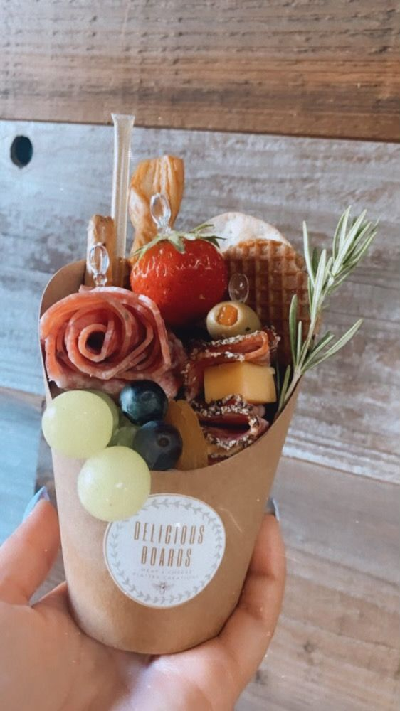 charcuterie cup by delicious boards